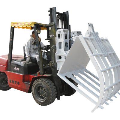 Forklift Kimyoviy tolali chiqindilarni qog'ozga tashlab yuborish